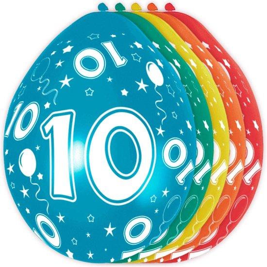 Ballonnen 10 Jaar Versiering 30cm 5 Stuks