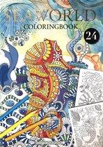 SeaWorld Kleurboek voor Volwassenen met 24 Nieuwe Kleurplaat Designs
