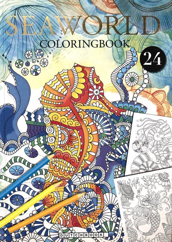 Afbeelding van Seaworld Kleurboek Voor Volwassenen Met 24 Nieuwe Kleurplaat Designs