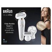 Braun Silk-épil 9 Flex 9-030 - Voor Vrouwen Met Flexibele Kop Voor Ontharen, Wit/Goud