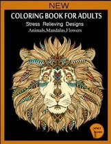 Coloring Book For Adult Stress Relieving Designs Animals, Mandalas, Flowers