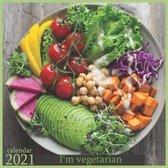 2021: I'm vegetarian: 2021 Wall & Office Calendar, 12 Month Calendar