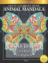 Zoo-Dala Butterflies Version Vol 30, Animal Mandala, Adult Coloring Book