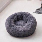 Hondenmand -  Donut hondenmand - Fluffy - Hond - Donkergrijs