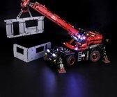 LED VERLICHTING SET - Terrein hijskraan Lichtset voor Lego Technisch Rode Hijskraan set 42082 Verlichtingsset - Toy Brick Lighting - Geen model!