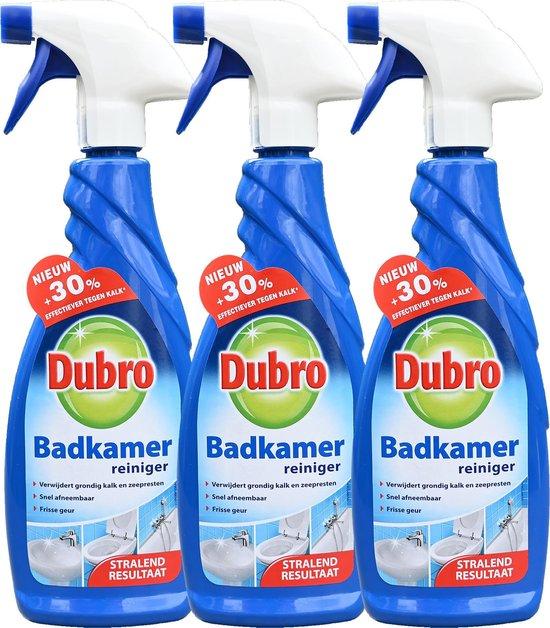 3 x Dubro badkamer reiniger - 30% effectiever tegen kalk - badkamerreiniger - 3 x 650 ml