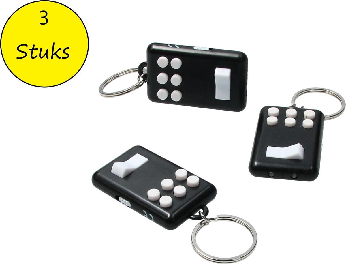 Fidget pad Anti stress set 3 stuks Flip en Click Keylight Zwart-Wit
