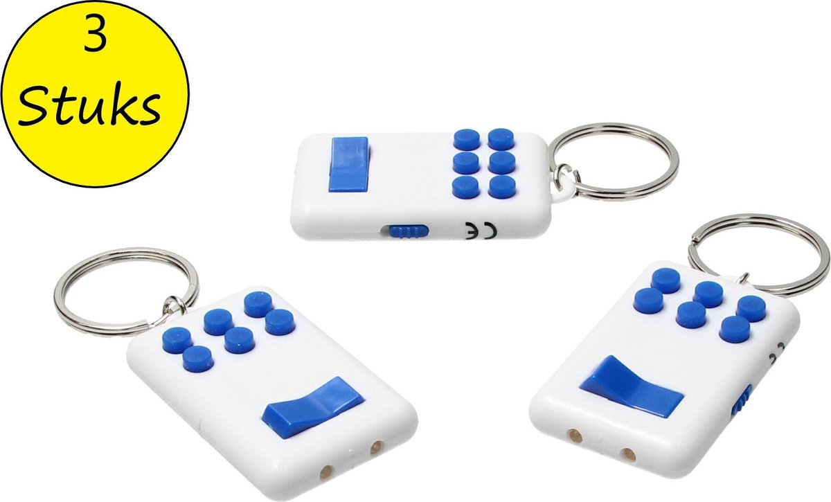 Fidget pad Anti stress set 3 stuks Flip en Click Keylight Wit-blauw