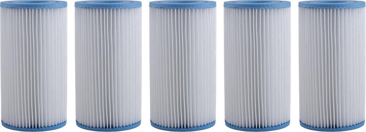 Five pack Bestway Filter Cartridge Zwembadfilter Type III - 58012 / Ook als 29000 Intex type A filter geschikt.
