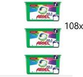 Ariel 3in1 Pods Kleur & Stijl wasmiddelcapsules - 108 Stuks - Kwartaalbox
