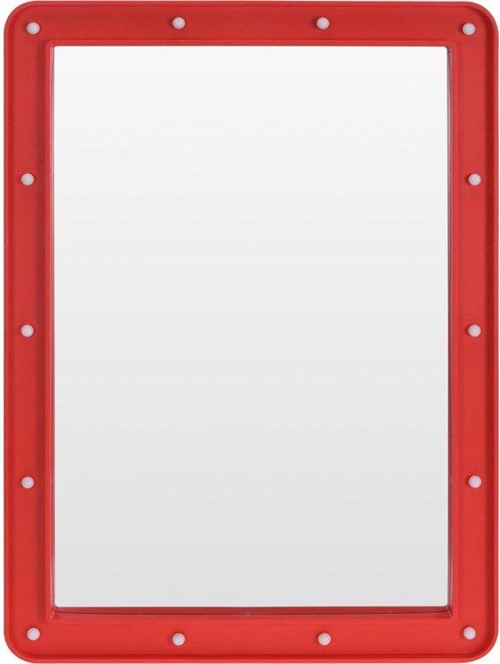 LED Spiegel DOMINIC - Rood - Metaal - 50.x 3.5 x 70 cm
