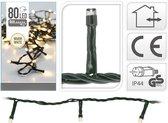 KerstXL Kerstboomverlichting - 80 LED lampjes - 6 m - voor bomen tot 100 cm - Warm wit licht