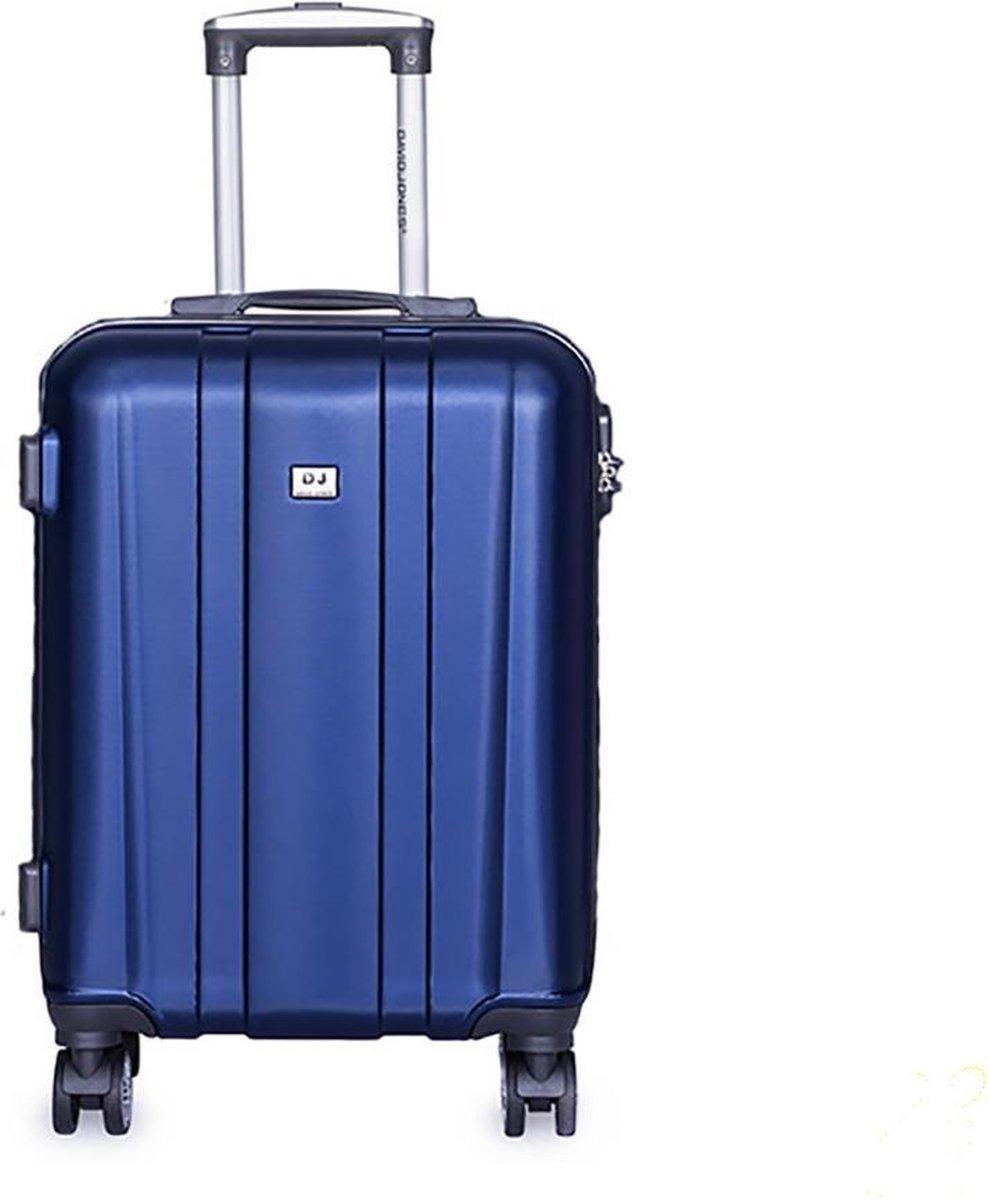 David Jones Cabin Koffer - 55 cm - Cijferslot - Blauw kopen