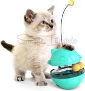 Katten Snack bal Voer Snoep Speeltje Speelgoed Voerbal Kitten Kat kittens - Blauw