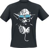 STAR WARS - T-Shirt DJ Cool Yoda Men Black (XXL)