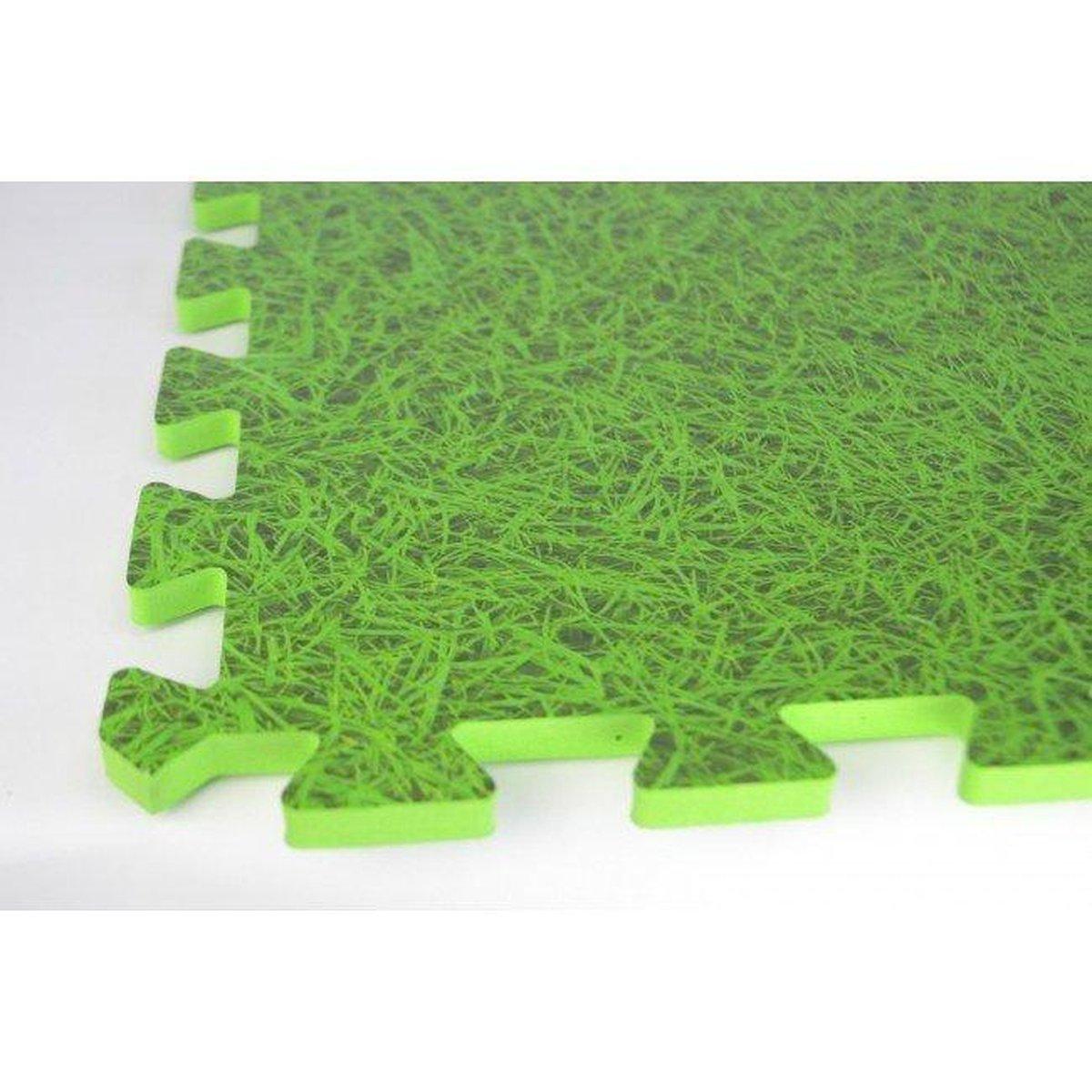 Zwembad tegels | Gras groene vloertegels | Ondergrond | 6 stuks | Fitness Puzzelmatten Set - totaal 120x80x1 cm - 0,96 m2