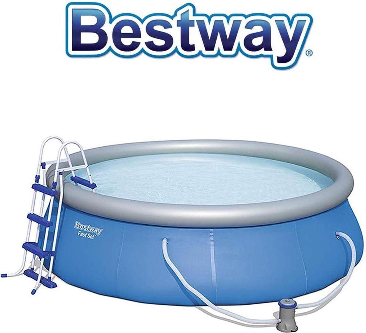 Bestway zwembad - steel pro - incl toebehoren - 366 x 91 cm