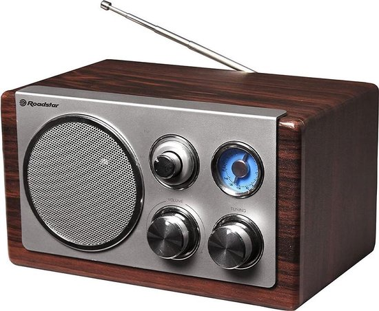 Roadstar Retro Radio HRA-1245 FM AUX Dark Wood