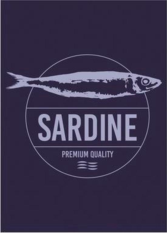 Clarysse Theedoeken Sardine Blauw 50x70cm 6 stuks