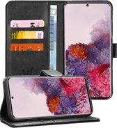 Samsung S20 Hoesje - Samsung Galaxy S20 Hoesje Book Case Leer Wallet - Zwart