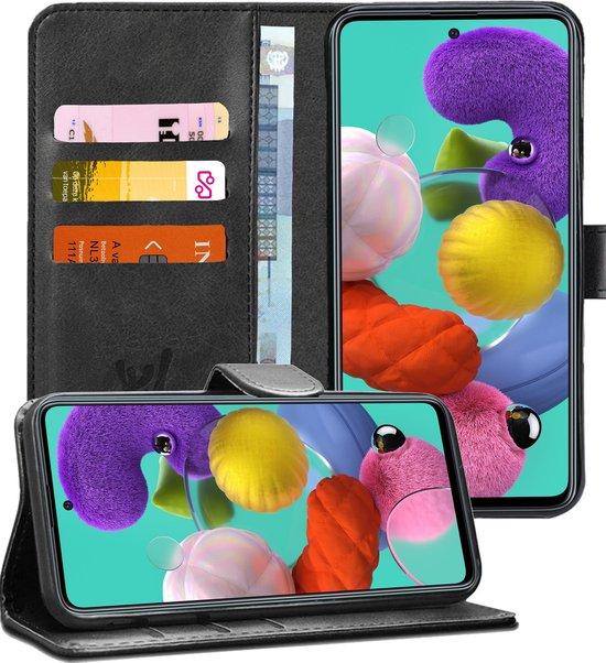 Samsung Galaxy A51 Hoesje - Book Case Leer Wallet - Zwart