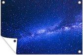 Melkweg bij een blauwe hemel 180x120 cm XXL / Groot formaat!