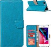iPhone SE 2 2020 / 7 / 8 - Bookcase Turquoise - portemonee hoesje