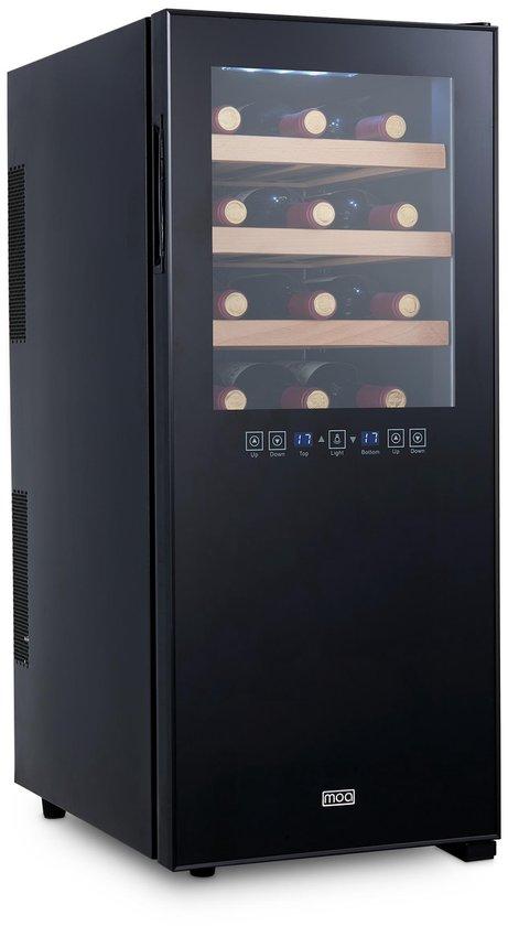 Koelkast: MOA - Wijnkoelkast - 24 flessen - Zwart, van het merk Moa