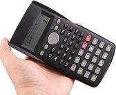 LOUZIR Wetenschappelijke Wiskunde Calculator - Rekenmachine Met LCD Scherm - Zwart