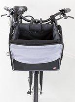Trixie fietsmand voor aan stuur nylon zwart / grijs 41x26x26 cm
