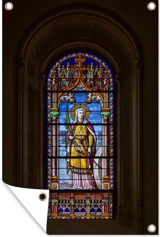 Bol Com Gotische Glas In Lood Raam Tuinposter 120x180 Cm Tuindoek Buitencanvas