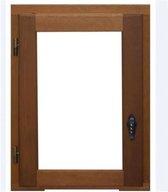 Venster 1 blad naar links - H.60 x L.50 cm - Exotisch hout