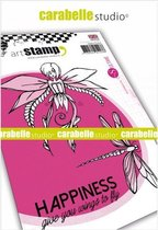 Carabelle Studio • cling stamp A6 happiness