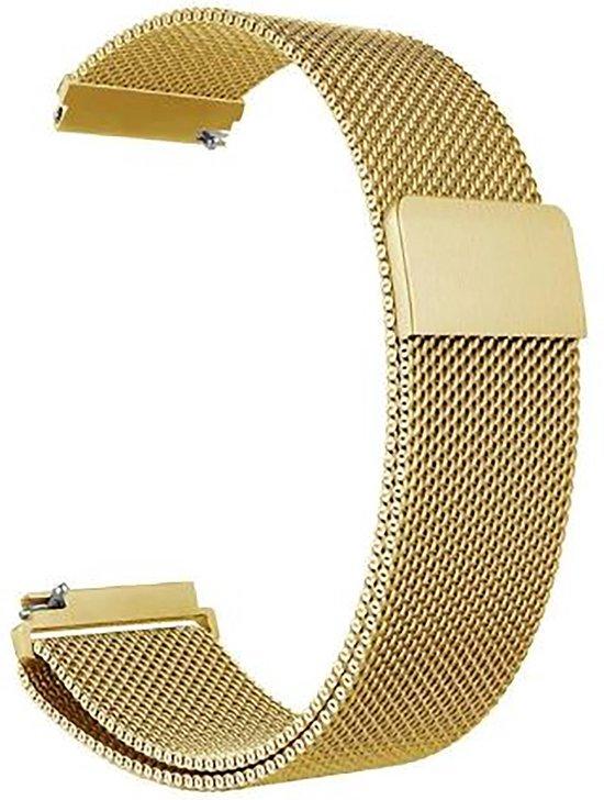 Horlogeband van RVS voor Shinola   22 mm   Horloge Band - Horlogebandjes   Goud