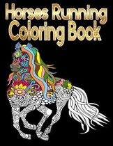 horses running coloring books