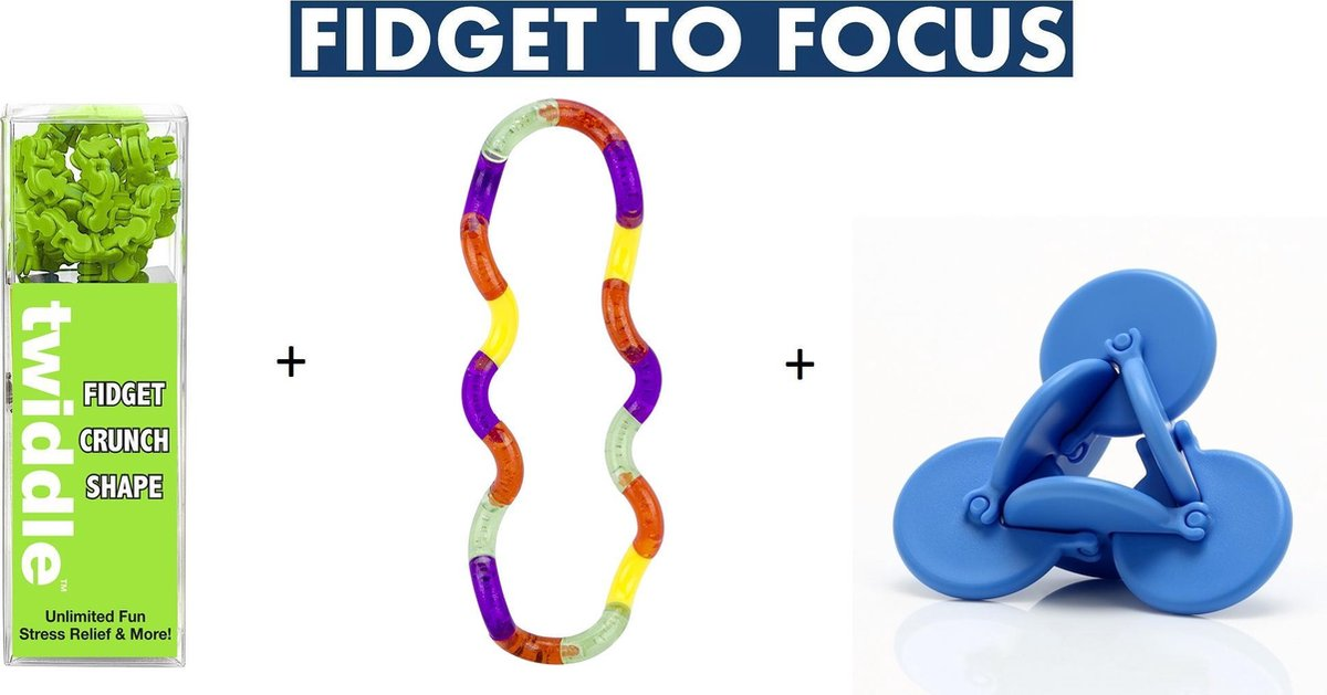 Schoolpakket Klein - Snelafgeleid - Friemelset - Sensorische hulpmiddelen - Fidget - Focus