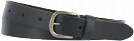 Leren Riem – Blauw – 3 cm breed – maat 110 – ronde gesp