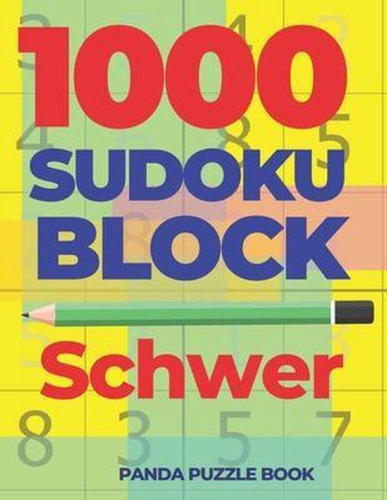 1000 Sudoku Block Schwer