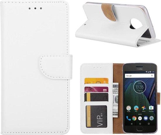 Motorola Moto G6 Plus - Bookcase Wit - portemonee hoesje