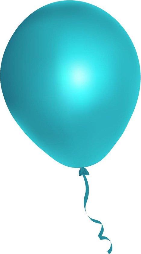 500 stuks blauwe ballonnen - decoratie - latex - helium - feest - blauw - ballon