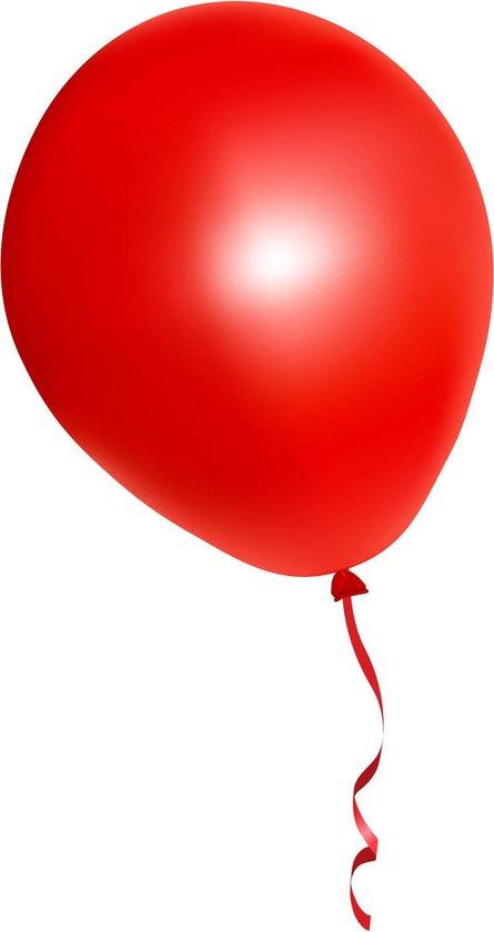 500 stuks rode ballonnen - decoratie - latex - helium - feest - rood - ballon