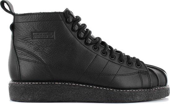 adidas Originals Superstar Boot Luxe W - Dames Sneakers Sportschoenen  Schoenen Leer Zwart AQ1250 - Maat EU 37 1/3 UK 4.5
