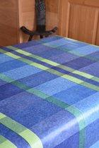 Zomerse Tafellakens - Tafelzeil - Tafelkleed - Duurzaam - Gemakkelijk in onderhoud - Opgerold op dunne rol - Geen plooien - Vierkant Blauw  - 140cm x 160cm