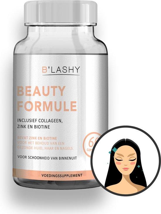 B'LASHY® haarvitamine met collageen, biotine, zink en vitamine C - Voor gezond haar, huid, nagels en een goede weerstand - Haar vitamine tegen haaruitval - 60 Capsules