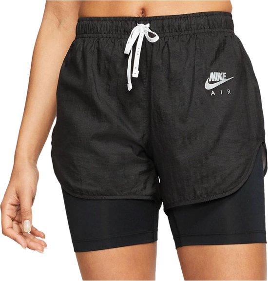 Nike Air 2-in1  Sportbroek - Maat S  - Vrouwen - zwart