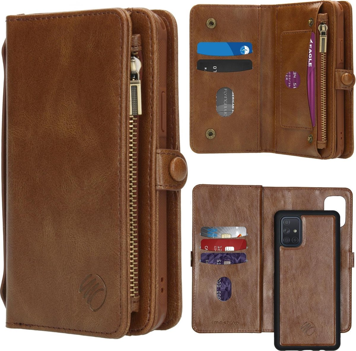 Afbeelding van product iMoshion 2-in-1 Wallet Booktype Samsung Galaxy A71 hoesje - Bruin