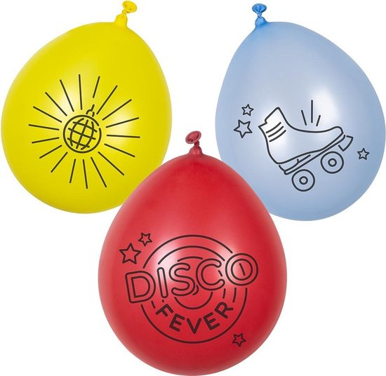 Boland - Disco Fever Ballonnen 23cm 6st