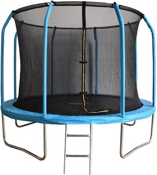 Trampoline - 244 cm - met veiligheidsnet & ladder - blauw - tot 150 kg belasting