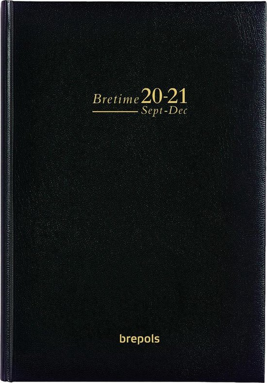 Brepols Schoolagenda 2020-2021 • 16 Mnd • Bretime  • Lima • Zwart • 14,8 x 21 cm