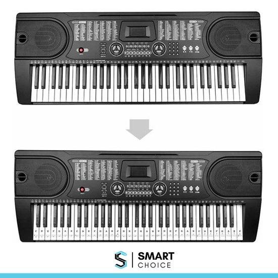 Piano/Keyboard Stickers | Eenvoudig Muzieknoten Leren | Transparant | Herbruikbaar | Stickers | Voor 37, 49, 54, 61 en 88 toetsen
